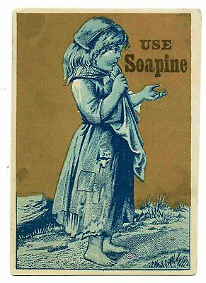 Lot of 5 different SOAPINE  Victorian Advertising Cards