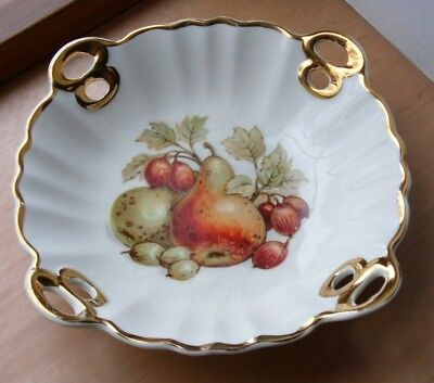 Vintage Crown Devon (S.Fielding & Co) Pierced Candy Dish - Autumn Fruit Design