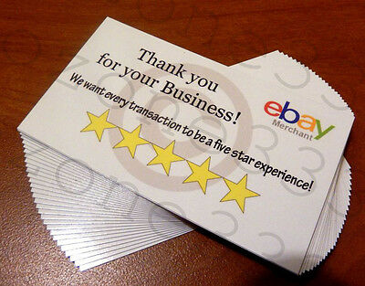 Thank You cards for Ebay sellers - 100 cards