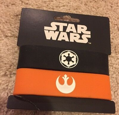 Star Wars Rubber Silicone Bracelets Wristbands (2) In Package  New For 14+