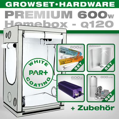 Homebox Ambient Q120 120x120x200cm Grow Set 600W Premium Growbox Komplettset