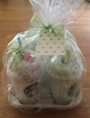 "Baby Shower ""Milkshake x4"" Diaper Cake Alternative Gift- Girl/boy Or Neutral"