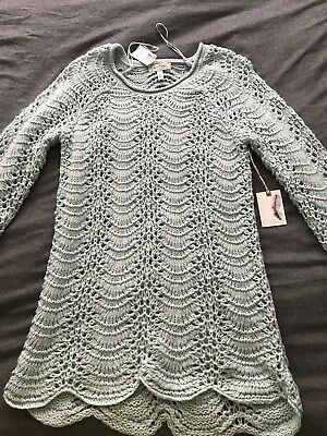 NWT Jessica Simpson Maternity Sweater Light Blue With Shimmery Thread L