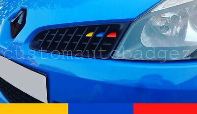 Renault Clio Mk3 Sport 197 Grille Stickers Vinyl French Renaultsport Colours
