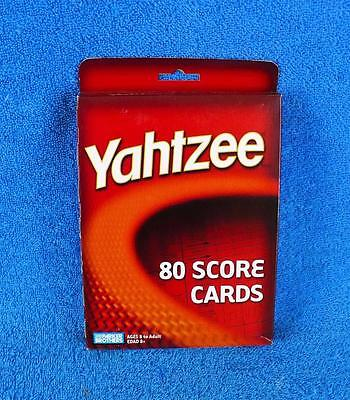 Yahtzee 80 Score Cards By Parker Brothers 2004 - New Sealed !