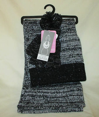 NWT BERKSHIRE GIRLS  3-Pc Marled Infinity Scarf Hat   Gloves Set ... 7e1c84775a30