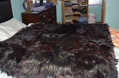 Hard to find Antique Stroock Horse Hair/Bear Leather Sleigh/Car Blanket