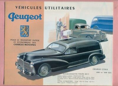 Catalogue : Utilitaires Peugeot 203 /  D3A ( Fac Simile Charge Utile 1993 )