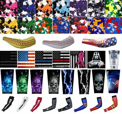 Sports Cycling Running Baseball Football Arm Stretch Compression Sleeve USA