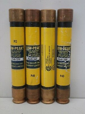 Lot of (4) Bussmann Fusetron LPS-RK-30SP Low-Peak Time-Delay Fuse 30A 600V