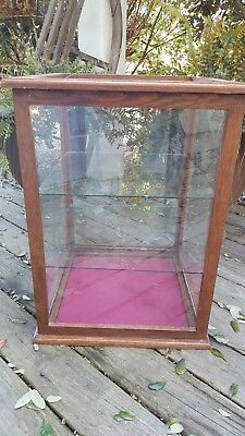 Antique Oak Countertop Display Case/ Country Store