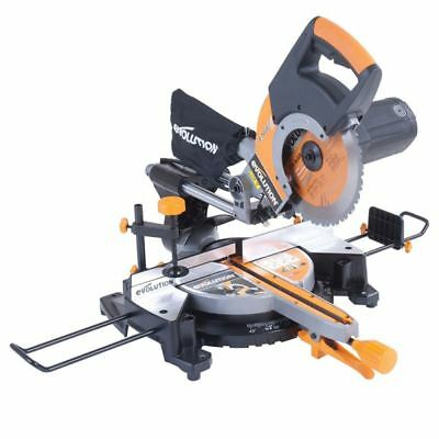 Evolution RAGE3+ Multipurpose Sliding Mitre Saw 255 mm With Accessory Pack (230