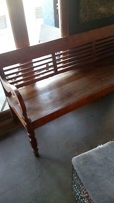 Beautiful Antique Wooden Bench from Asia