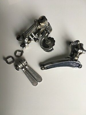 Vintage Campagnolo Nuovo Record Derailleurs and shifters set  1975