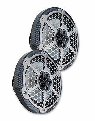 """DS18 Hydro CF65 Pair of Black Marine 6.5"""" 2-Way Speakers with RGB LED Lights"""