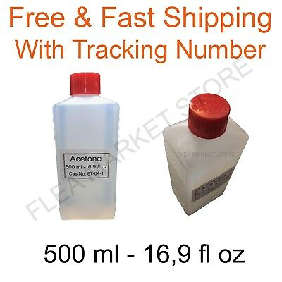 Acetone 500 ml 16,9 fl oz solvent cleaner High Quality Pure free post propanone