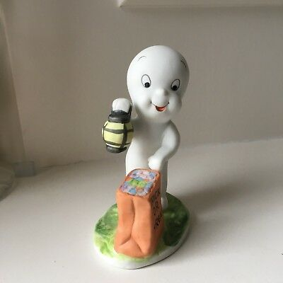 Halloween Figurine Casper the Friendly Ghost Trick or Treat Bag 1986 Harvey Pub.
