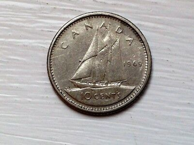 1969 Canadian Dime-FREE SHIPPING!
