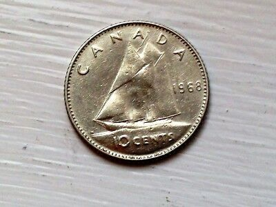 1968 Canadian Dime-FREE SHIPPING!