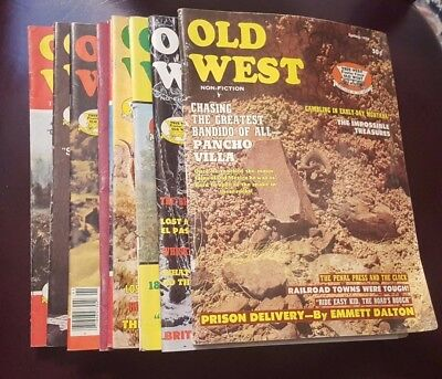 Lot Of 9 Old West Magazines 1971-1979 Issues