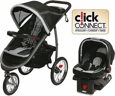 Graco FastAction Fold Jogger Click Connect Travel System Gotham Stroller Run Ne