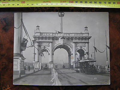 Municipal Arch Royal Vistit to Melbourne 1901 Victoria Australia Princess Bridge