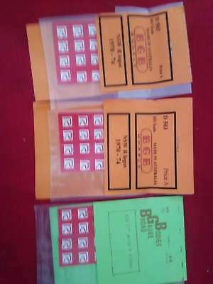 NSW early bogie exchange symbols circa THREE PACKS deal 1964 Red R on white