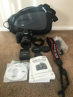 Canon EOS 5D Mark IV 30.4MP DSLR Camera (with EF 24-70mm f/4L IS) 44 clicks only