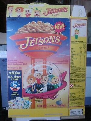 1991 Ralston Jetsons New Cereal Box Old Vintage