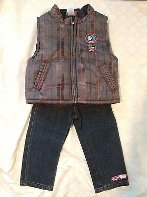 Thomas The Train and Friends Toddler Boys Jeans 2T and Vest Jacket size 3T