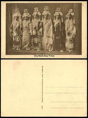 China Old Postcard Chy-Baok-Guy-Troup, Chinese Actors & Actresses Stage Costumes