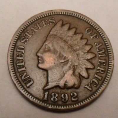 1892 P Indian Head Cent Penny  *AG OR BETTER*  **FREE SHIPPING**
