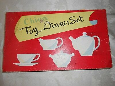Vintage child's china toy tea dinner set made in Japan service for 6