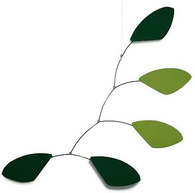 Abstract Modern Hope Green Leaves Hanging Mobile Painted Steel Museum New Gift