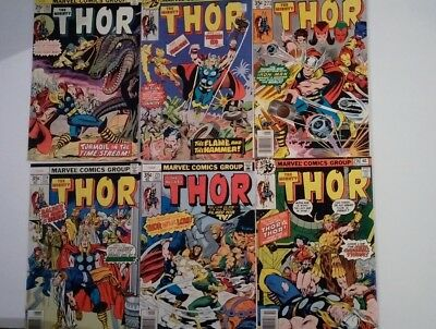 The Mighty Thor Bronze Age Lot of 6 Issues #243, 247, 271, 274, 275, 276 FN/VF