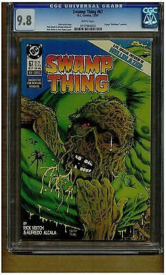 Swamp Thing #67 Cgc 9.8 Mint White Pages 6 Pages Of Hellblazer Preview 1987 D.c.