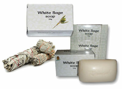 4 X WHITE SAGE SOAP Kamini Amazing Pack Beautiful Smell