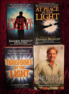 """L@@k!""""new Age"""" """" Metaphysical Healing -Trabsformed By The Light""""  Book Lot- Bj24"""
