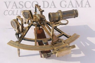 "7"" Nautical Sextant~Solid Brass~Working Instrument~Astrolabe Ship Maritime Gift."