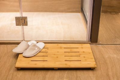 Bamboo Bath Mat, Wood Mat Non Slip Shower Floor Mat Perfect For  Indoor/Outdoor