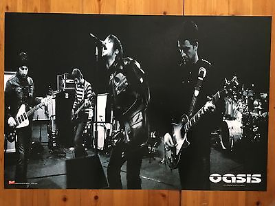 Oasis, Photo By Simon Halfon Rare Authentic 2002 Poster