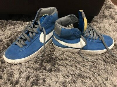 Nike Blazers Mid Hi Top Suede Trainers Women's Girls Blue UK Size 5.5