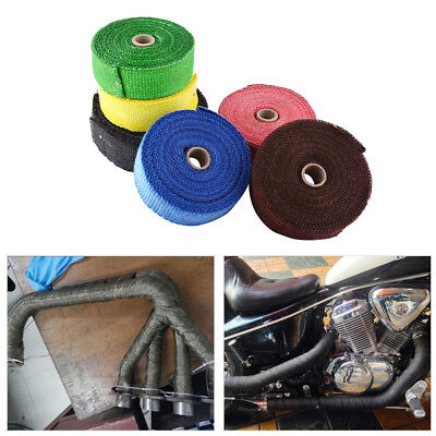 10M Motorcycle Exhaust Pipe Heat Shield Wrap Manifold Cover Insulation Roll Tape