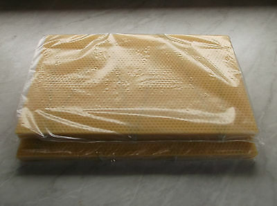 20  National Bee Hive Brood DN4 wired Foundation Wax and 60 sheets of sn4 wax