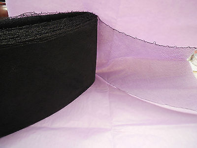 15cm Wide Black Crinoline horse hair braid flexible sinamay millinery trimmings