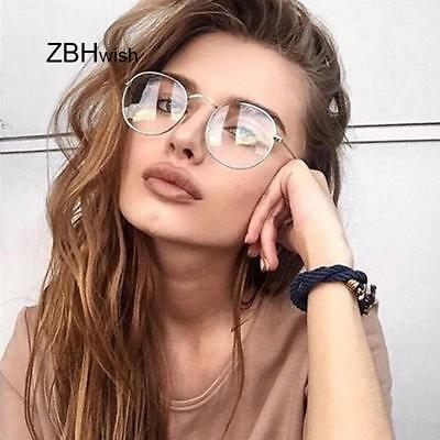 Women Glasses Frame Men Eyeglasses Frame Vintage Round Clear Lens Transparent