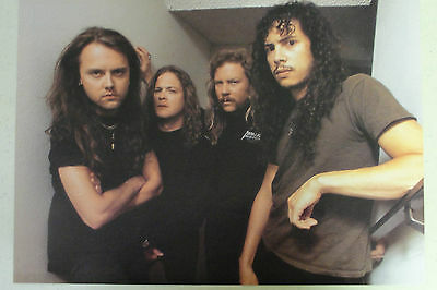 METALLICA Full Page Pinup magazine clipping nice group pic