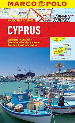 Cyprus Holiday Map - New - Marco Polo - Laminated