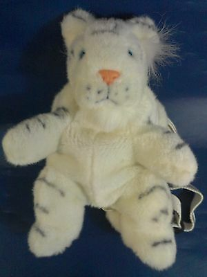 """Super RARE Siegfried and Roy White Tiger Plush Toy Mirage Small Back Pack 12"""""""