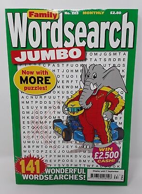 Family Wordsearch JUMBO - [ 141 Word Searches! ] - Issue 263 - Puzzle Book